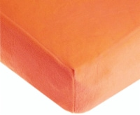 American Baby Heavenly Soft Chenille Crib Sheet - Orange
