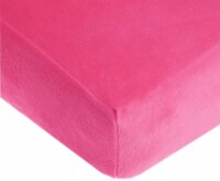 American Baby Heavenly Soft Chenille Crib Sheet - Hot Pink