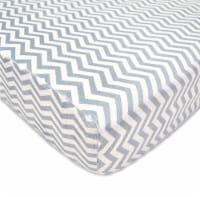 American Baby Heavenly Soft Chenille Crib Sheet - Gray Zigzag