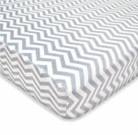American Baby Heavenly Soft Chenille Playard Sheet - Gray Zigzag