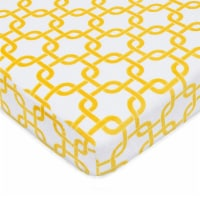 American Baby Heavenly Soft Chenille Playard Sheet - Yellow/White