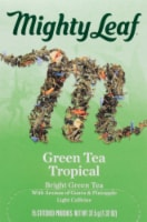 Mighty Leaf Green Tea Tropical Stitched Pouches