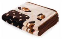 SmartPetLove Cream & Brown Heart Snuggle Puppy Snuggle Blanket - 1 ct