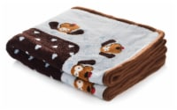 SmartPetLove Blue Heart Snuggle Puppy Snuggle Blanket
