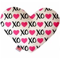 Mirage Pet 1102-SFTYHT6 Pink Xoxo 6 in. Stuffing Free Heart Dog Toy - 1