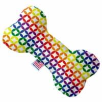 Mirage Pet 1112-SFTYBN8 Rainbow Bright Diamonds 8 in. Stuffing Free Bone Dog Toy - 1