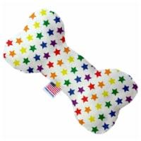 Mirage Pet 1113-SFTYBN8 Rainbow Stars 8 in. Stuffing Free Bone Dog Toy - 1
