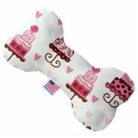 Mirage Pet 1118-SFTYBN10 Pink Fancy Cakes 10 in. Stuffing Free Bone Dog Toy - 1