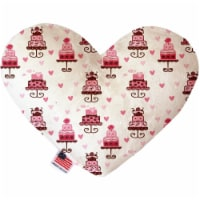 Mirage Pet 1118-SFTYHT8 Pink Fancy Cakes 8 in. Stuffing Free Heart Dog Toy - 1