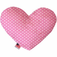 Mirage Pet 1160-SFTYHT6 Pink Polka Dots 6 in. Stuffing Free Heart Dog Toy - 1