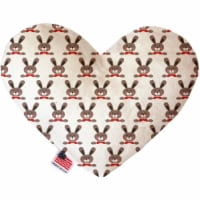 Mirage Pet 1171-SFTYHT8 Dapper Rabbits 8 in. Stuffing Free Heart Dog Toy
