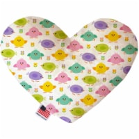 Mirage Pet 1198-SFTYHT6 Easter Chickadees 6 in. Stuffing Free Heart Dog Toy - 1