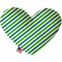 Mirage Pet 1230-SFTYHT6 Lucky Stripes 6 in. Stuffing Free Heart Dog Toy - 1