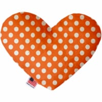 Mirage Pet 1249-SFTYHT8 Melon Orange Swiss Dots 8 in. Stuffing Free Heart Dog Toy - 1