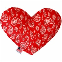 Mirage Pet 1257-SFTYHT8 Red Western 8 in. Stuffing Free Heart Dog Toy