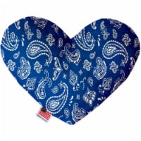 Mirage Pet 1258-SFTYHT8 Blue Western 8 in. Stuffing Free Heart Dog Toy