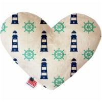 Mirage Pet 1262-SFTYHT6 Lighthouses 6 in. Stuffing Free Heart Dog Toy