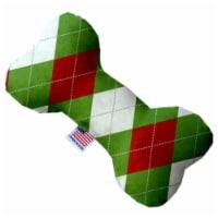 Mirage Pet 1304-SFTYBN8 Christmas Argyle 8 in. Stuffing Free Bone Dog Toy - 1