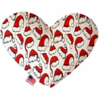 Mirage Pet 1314-SFTYHT6 Santa Hats 6 in. Stuffing Free Heart Dog Toy