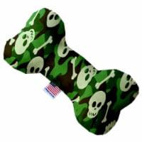 Mirage Pet 1341-SFTYBN6 Green Camo Skulls 6 in. Stuffing Free Bone Dog Toy