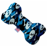 Mirage Pet 1342-SFTYBN8 Blue Camo Skulls 8 in. Stuffing Free Bone Dog Toy