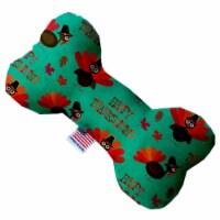 Mirage Pet 1345-SFTYBN8 Happy Thanksgiving 8 in. Stuffing Free Bone Dog Toy