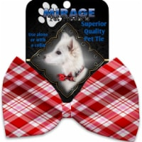 Mirage Pet 1361-VBT Valentines Day Plaid Pet Bow Tie Collar Accessory with Cloth Hook & Eye - 1