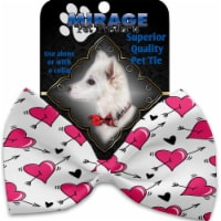 Mirage Pet 1367-VBT Hearts & Arrows Pet Bow Tie Collar Accessory with Cloth Hook & Eye - 1