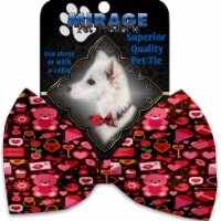 Mirage Pet 1373-VBT Valentines Day Bears Pet Bow Tie Collar Accessory with Cloth Hook & Eye - 1