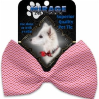 Mirage Pet 1374-VBT Valentines Day Chevron Pet Bow Tie Collar Accessory with Cloth Hook & Eye - 1