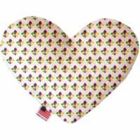 Mirage Pet 1378-TYHT6 Mardi Gras Fleur De Lis 6 in. Heart Dog Toy - 1