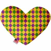 Mirage Pet 1379-SFTYHT8 Mardi Gras Diamonds Stuffing Free 8 in. Heart Dog Toy