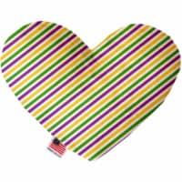 Mirage Pet 1380-SFTYHT6 Mardi Gras Stripes Stuffing Free 6 in. Heart Dog Toy