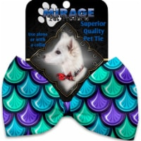 Mirage Pet 1125-VBT Mermaid Scales Pet Bow Tie Collar Accessory with Cloth Hook & Eye - 1