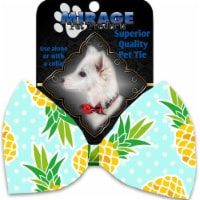 Mirage Pet 1129-VBT Pineapples & Polka Dots Pet Bow Tie Collar Accessory with Cloth Hook & Ey - 1