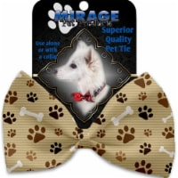 Mirage Pet 1130-VBT Mocha Paws & Bones Pet Bow Tie Collar Accessory with Cloth Hook & Eye - 1