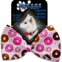 Mirage Pet 1131-VBT Pink Donuts Pet Bow Tie Collar Accessory with Cloth Hook & Eye - 1
