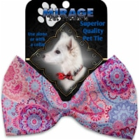 Mirage Pet 1132-VBT Pink Bohemian Pet Bow Tie Collar Accessory with Cloth Hook & Eye - 1