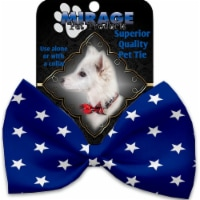 Mirage Pet 1134-VBT Blue Stars Pet Bow Tie Collar Accessory with Cloth Hook & Eye - 1