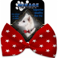 Mirage Pet 1135-VBT Red Stars Pet Bow Tie Collar Accessory with Cloth Hook & Eye - 1