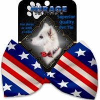 Mirage Pet 1141-VBT Stars & Stripes Pet Bow Tie Collar Accessory with Cloth Hook & Eye - 1