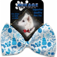 Mirage Pet 1164-VBT Baby Boy Pet Bow Tie Collar Accessory with Cloth Hook & Eye - 1