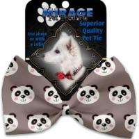 Mirage Pet 1175-VBT Grey Pandas Pet Bow Tie Collar Accessory with Cloth Hook & Eye - 1