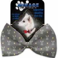 Mirage Pet 1182-VBT Gray Bunnies Pet Bow Tie Collar Accessory with Cloth Hook & Eye - 1