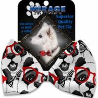 Mirage Pet 1191-VBT Hip Pandas Pet Bow Tie Collar Accessory with Cloth Hook & Eye - 1