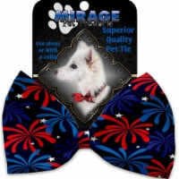 Mirage Pet 1205-VBT Fireworks Pet Bow Tie Collar Accessory with Cloth Hook & Eye - 1