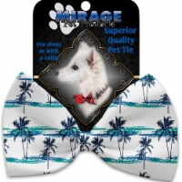 Mirage Pet 1210-VBT Palm Tree Paradise Pet Bow Tie Collar Accessory with Cloth Hook & Eye - 1