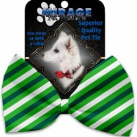 Mirage Pet 1224-VBT St. Patricks Stripes Pet Bow Tie Collar Accessory with Cloth Hook & Eye - 1