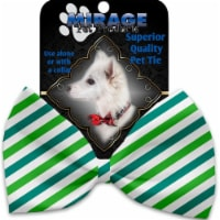 Mirage Pet 1230-VBT Lucky Stripes Pet Bow Tie Collar Accessory with Cloth Hook & Eye