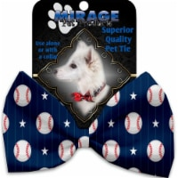 Mirage Pet 1232-VBT Baseball Pinstripes Pet Bow Tie Collar Accessory with Cloth Hook & Eye